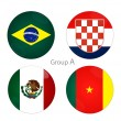 Group A - Brazil, Croacia, Mexico, Cameroon — Stock Photo #39698433