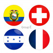 Group E - Ecuador, Switzerland, Honduras, France — Stock Photo #39699439