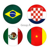 Group A - Brazil, Croacia, Mexico, Cameroon — Stock Photo