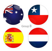 Group B - Australia, Chile, Spain, Netherlands — Stock Photo