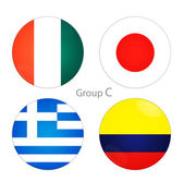 Group C- Ivory Coast, Japan, Greece, Colombia — Stock Photo