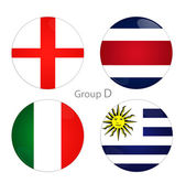 Group D - England, Costa Rica, Italy, Uruguay — Stock Photo