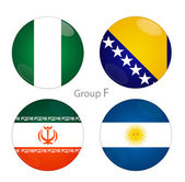 Group F - Nigeria, Bosnia, Iran, Argentina — Stock Photo
