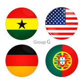 Group G -USA, Ghana, Germany, Portugal — Stock Photo