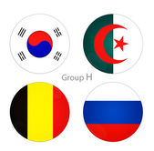 Group H - South Korea, Algeria, Belgium, Russia — Stock Photo
