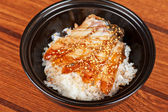 Eel with rice — Stock Photo