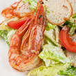 Tasty shrimp salad — Stock Photo