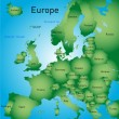 Map of europe — Stock Vector