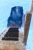 Ice-hole — Stock Photo