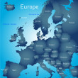 Map of europe — Stock Vector #42369917