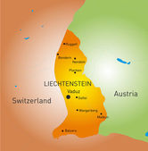 Liechtenstein country — Stock Vector