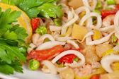 Salada de frutos do mar — Foto Stock