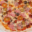 Pizza with ham and mushrooms — Stock Photo #45366145