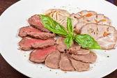 Closeup meat cuts — Stock Photo