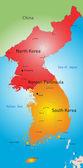 Koreas countries — Stock Vector