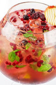 Berries and fruit cocktail — Zdjęcie stockowe
