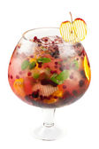 Berries and fruit cocktail — Stock Photo