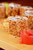 Sesame sushi rolls — Stock Photo