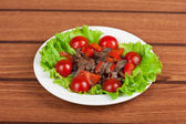 Roasted beef and mushrooms — Stock Photo