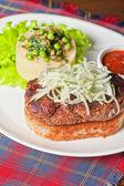 Wyśmienity stek mięsa — Zdjęcie stockowe