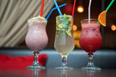 Three healthy nonalcoholic cocktails — Stock Photo