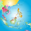 Southeast asia map — Stock Vector #51662503