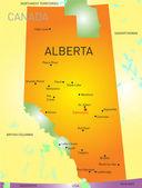 Alberta province — Stock Vector