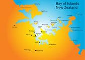 Bay of Island, New Zealand, — Stock Vector