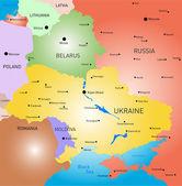 Belarus and Ukraine country — Stock Vector