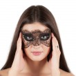 Girl at mask — Stock Photo #5976323