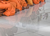 Monks' Reflection — Stock Photo