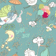 Seamless Baby Boy pattern — 图库照片