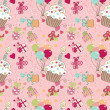 Seamless Birthday pattern — Stock Photo