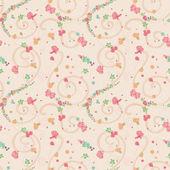 бесшовные мало красочные цветы — Стоковое фото
