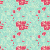 Seamless Rose Pattern in Blue background — Stock Photo