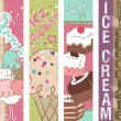 Summer Sweets banners - Stockvectorbeeld