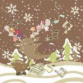 Christmas song — Stock Vector