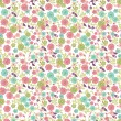 Seamless floral background — Stockvectorbeeld