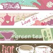 Tea banners - Stock Vector