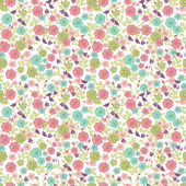 Nahtlose floral background — Stockvektor