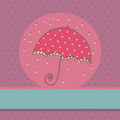 Cute Umbrella card — Stock Vector