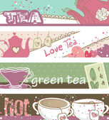 Tea banners — Stock Vector