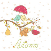 Romantic autumn card — Stock Vector