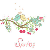 Romantic spring card — Stock Vector