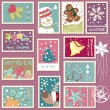 Royalty-Free Stock Vector Image: Winter postage set