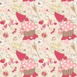 Love, seamless pattern — Stockvektor