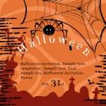 Halloween invitation poster — Stock Vector #16797651