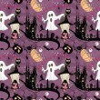 Seamless Halloween pattern — Vettoriali Stock