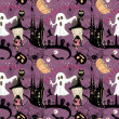 Seamless Halloween pattern — Stockvectorbeeld