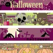 Halloween banners - Stok Vektr